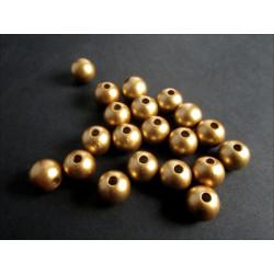 20x goldfarbene Acryl Perlen 8mm - Schmuckzubehör