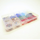 Bunter Perlenmix aus Glas- und Metallperlen - Schmuckzubehör Set