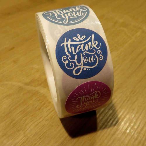 500 Sticker Durchmesser 25mm 'Thank You' Aufkleber DIY - Schmuckzubehör Schmuckverpackung