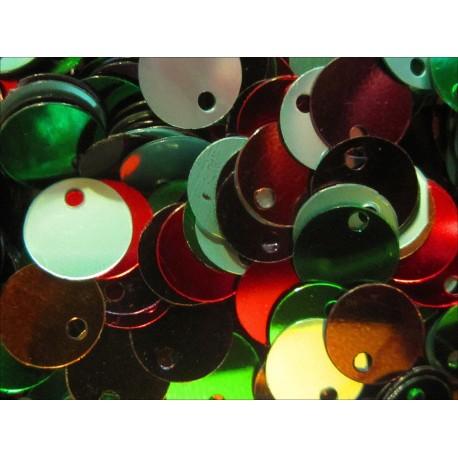 Bunter Pailletten Mix 8mm runde flache Pailletten - Bastelbedarf