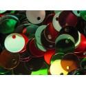 10g bunter Pailletten Mix 8mm runde flache Pailletten - Bastelbedarf