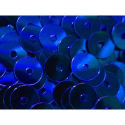 23g blaue Pailletten 6mm runde flache Pailletten - Bastelbedarf