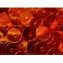 23g orange Pailletten 6mm runde flache Pailletten - Bastelbedarf