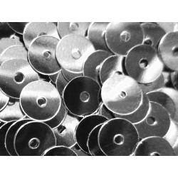 23g silber Pailletten 6mm runde flache Pailletten - Bastelbedarf