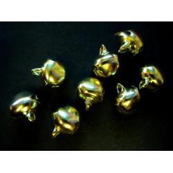 8x kleine Glöckchen ca. 8x10x12mm goldfarbene Schmuckanhänger - Schmuckzubehör
