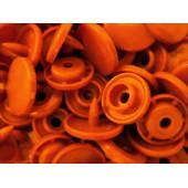 10x orange KAM Snaps Größe T-5 Größe 20 Plastik Druckknöpfe - Bastelbedarf