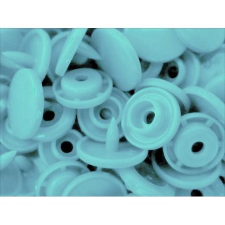 10x Babyblaue / Hellblaue KAM Snaps Größe T-5 Größe 20 Plastik Druckknöpfe - Bastelbedarf