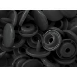 10x Dunkelgraue KAM Snaps Größe T-5 Größe 20 Plastik Druckknöpfe - Bastelbedarf