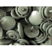 10x silberfarbene KAM Snaps Größe T-5 Größe 20 Plastik Druckknöpfe - Bastelbedarf