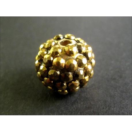 1x gold Shamballa 16mm gold Strass Perle - Schmuckzubehör