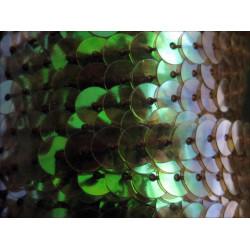 1m schwarz-grünes Paillettenband 6mm Breite - Bastelbedarf