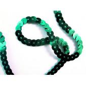 1m grünes Paillettenband 6mm Breite - Bastelbedarf