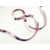1m rosa Paillettenband 6mm Breite - Bastelbedarf