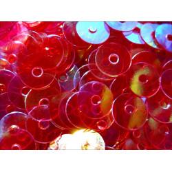 23g transparente rote holo Pailletten 6mm runde flache Pailletten - Bastelbedarf