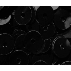 23g schwarze Pailletten 6mm runde flache Pailletten - Bastelbedarf