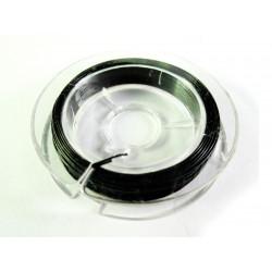10m schwarzer Schmuckdraht 0,45mm nylonummantelt - Schmuckzubehör