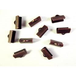 10x Bandklemme 13mm kupferfarben - Schmuckzubehör