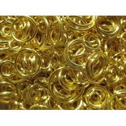 15g Biegering Mix 3-9mm rund goldfarben - Schmuckzubehör