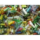 20g Mix aus bunten Stiftperlen 4-6mm - Schmuckzubehör
