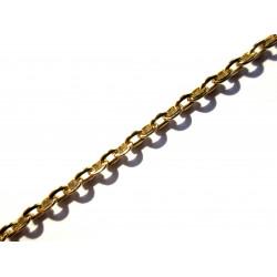 50cm vergoldete Kette 3x2,5mm gold Gliederkette - Schmuckzubehör