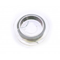 10m Schmuckdraht silberfarben 0,35mm Nylon ummantelt - Fädelmaterial Schmuckzubehör