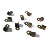 10x Endkappe 8x4mm bronzefarbenes Quetschröhrchen bzw. Bandklemme - bronze Schmuckzubehör