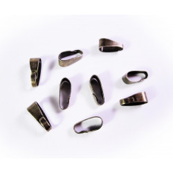 10x bronze Collierschlaufe 11x4mm Anhängerhaken - bronze Schmuckzubehör