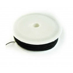 10m schwarze Nylonschnur 1mm Schwarze Perlenschnur - Schmuckzubehör